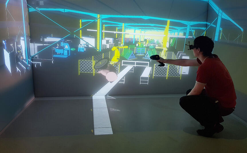 Work on the Digital Twin of your 3D factory with TechViz VR software