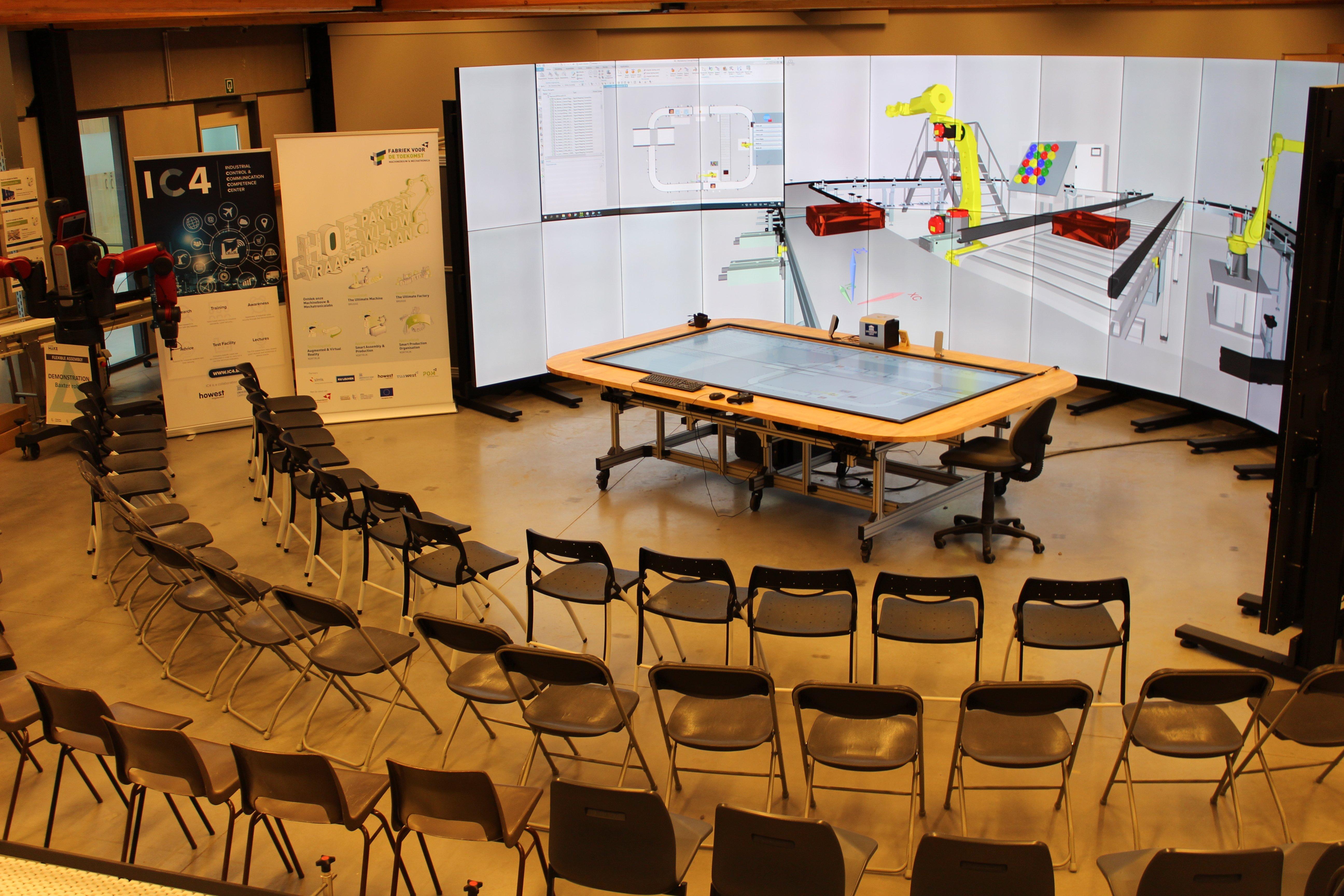 Digital Twin Control Room with Techviz VR software