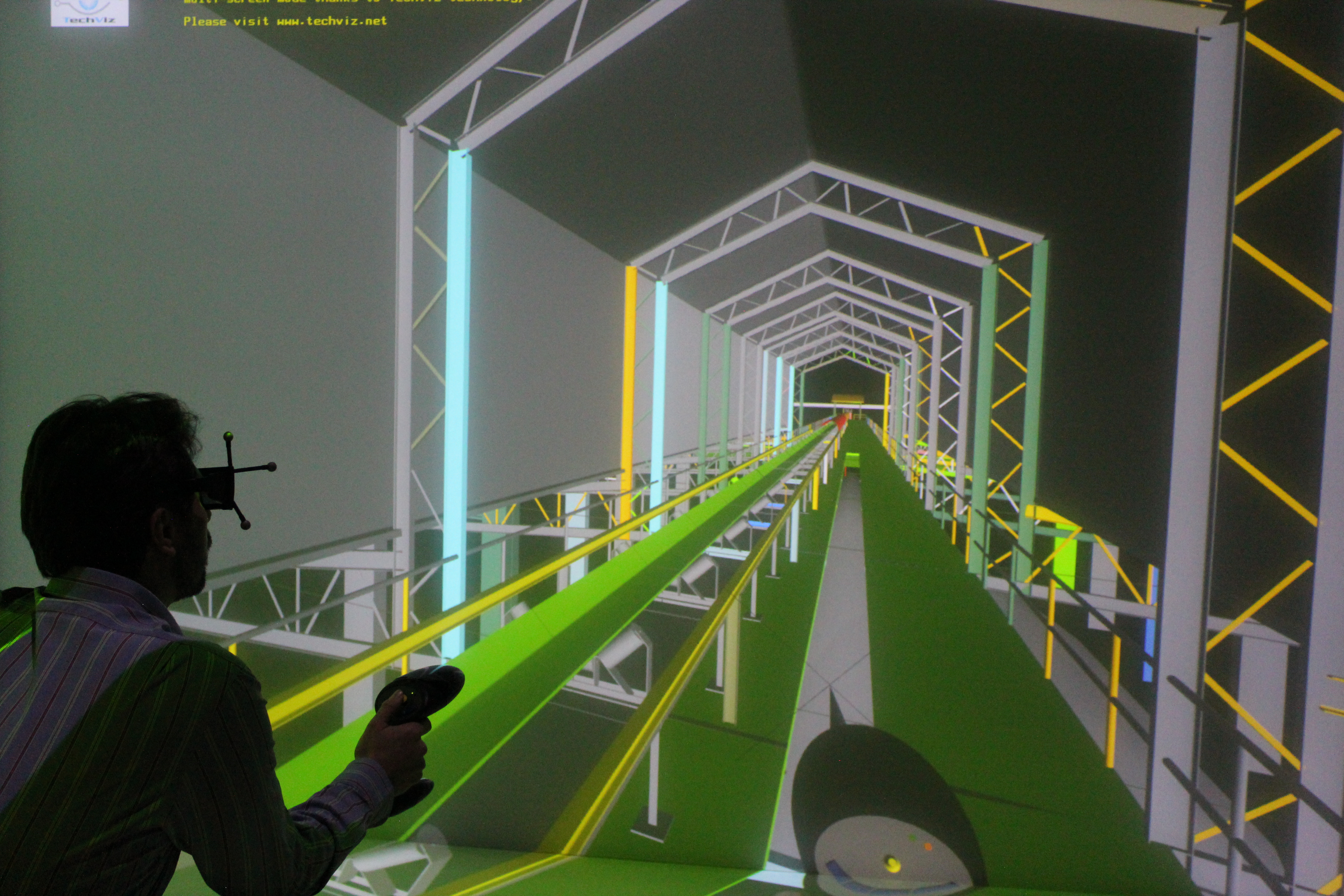 CAD model of a manufacturing plant in Virtual Reality for Industry 4.0