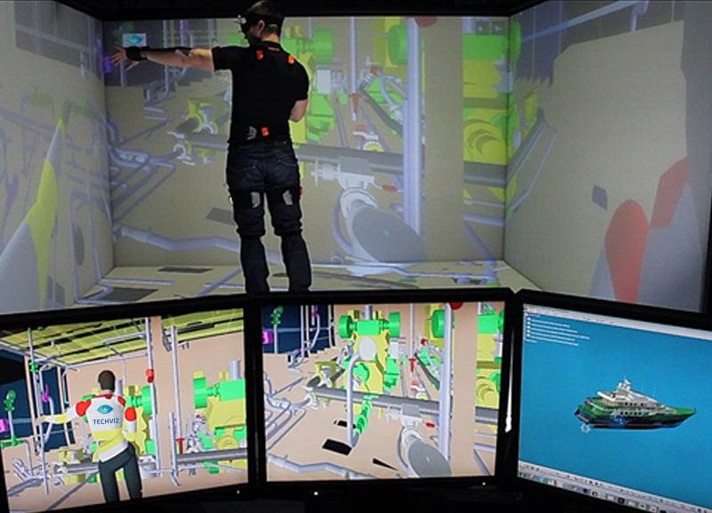 TechViz VR software with Xsens body Tracking