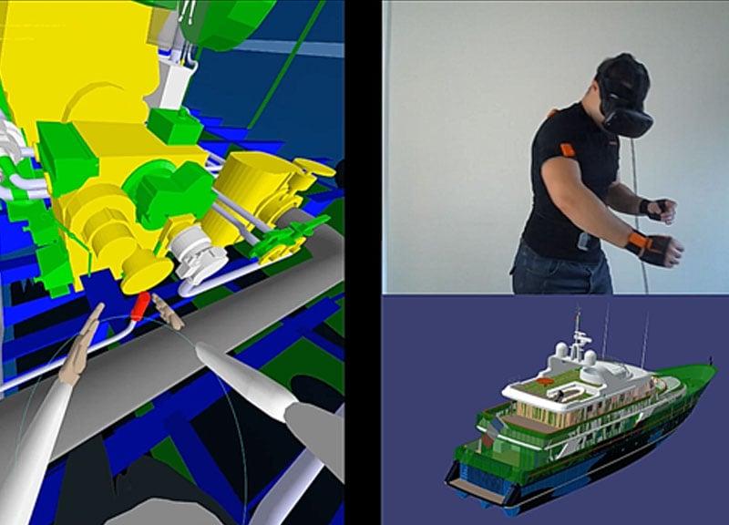 Body tracking TechViz 3d visualization software