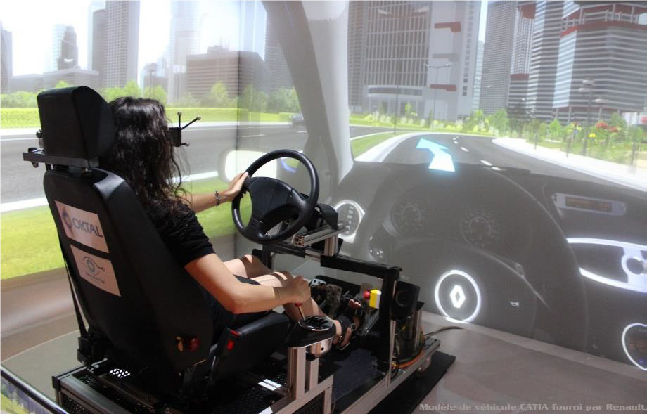 car ergonomics with full body tracking and VR simulation