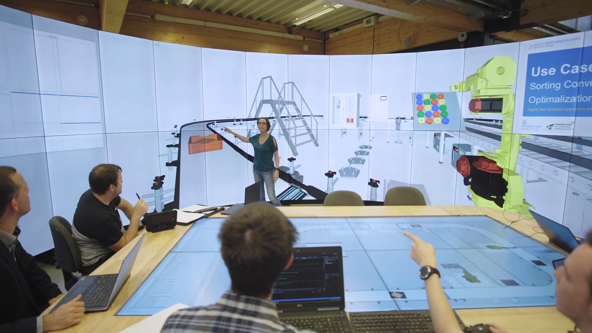 people engineering a product with a digital twin and VR